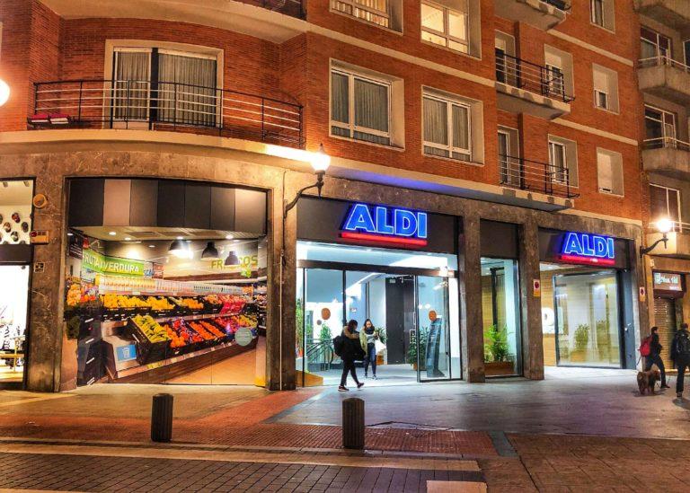 Ejecución de nuevo cierre exterior en ALDI Campuzano de Bilbao