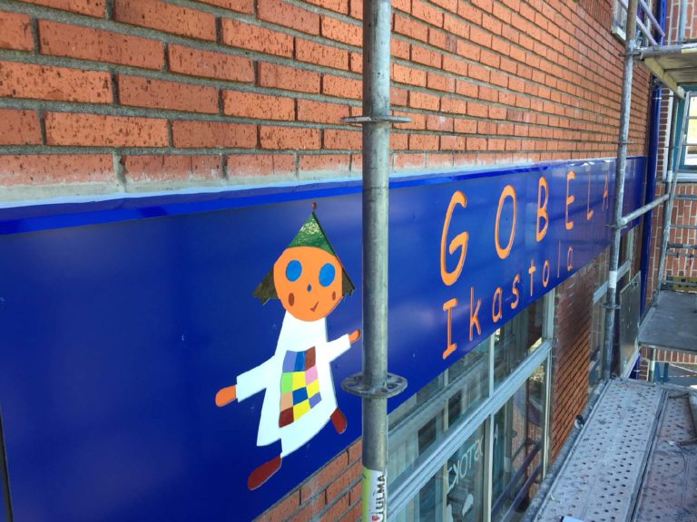 Rehabilitación de fachada en la Ikastola Gobela de Getxo