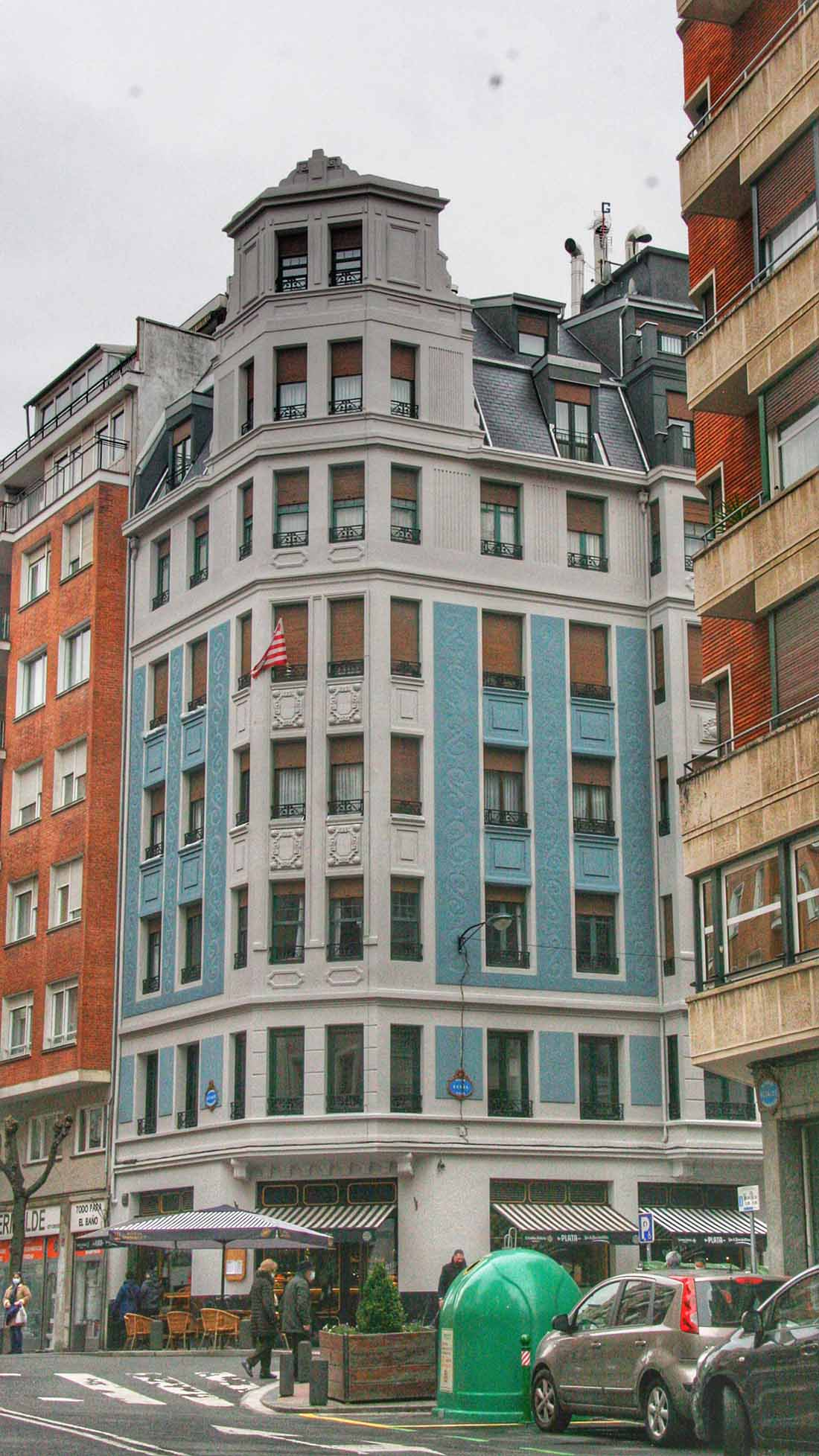 Rehabilitacion fachada edificio en la calle Egana de Bilbao 5