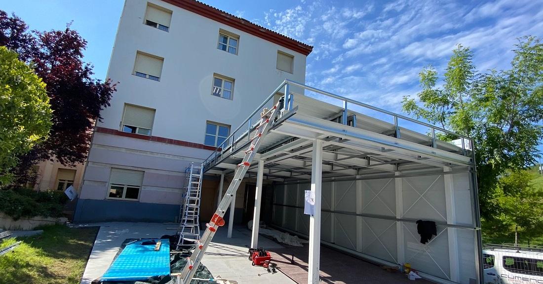 Nueva terraza y marquesina para porche en el centro IFAS de Gallarta 1