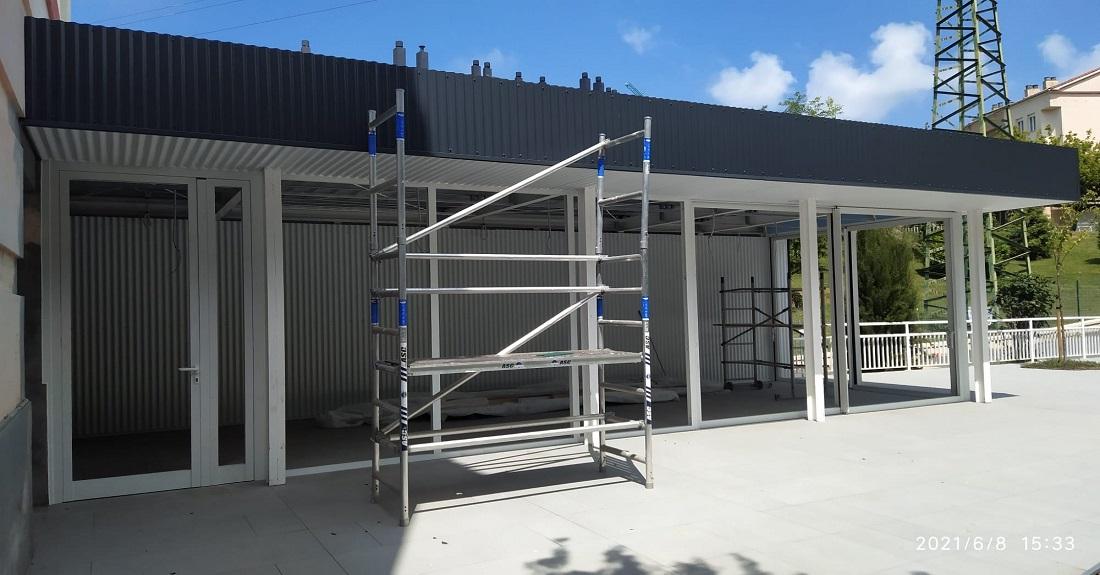 Nueva terraza y marquesina para porche en el centro IFAS de Gallarta 2